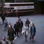 Street in Halifax with Crossley Carpets Lorry thumbnail