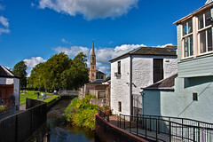 Strathaven during the Strathaven Balloon Festival 28 August 2018 (JamesPDeans.co.uk) Tags: forthemanwhohaseverything landscape church gb printsforsale stream colour white steeple spire strathclyde lanarkshire religion unitedkingdom greatbritain tower scotland britain river strathaven wwwjamespdeanscouk jamespdeansphotography architecture park landscapeforwalls europe uk digitaldownloadsforlicence