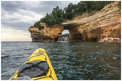 """Lovers Leap Arch"" Pictured Rocks, Munising, Michigan (etzel_noble) Tags: paddling travelphotography landscapelovers landscapephotography michiganlandscape michiganlake natureadventure naturelovers naturephotography exploremichigan adventure vacation iphonephotography iphonex photography greatlakes kayaking kayak travel rockformation landscape nature puremichigan michiganupperpeninsula munising michigan loversleaparch lakesuperior picturedrocks"