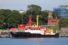 WSA Wilhelmshaven: Peilschiff JADE am Bauhof in Wilhelmshaven (Helgoland01) Tags: wilhelmshaven niedersachsen deutschland germany hafen port harbor schiff ship wsv