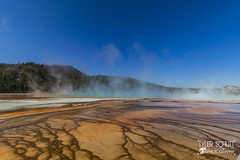 The stream from Grand Prismatic Springs (TylerSchlittPhotography) Tags: photography canon art travel love landscape nationalparks sd mt wy co mo flickr september sky nature exploring discover amazing