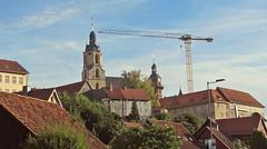Schleusingen (kadege59) Tags: deutschland canon canonpowershotsx230hs germany thüringen thuringia city kran castle burg sky