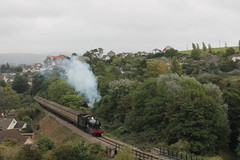 Dinmore Manor heading for Minehead (g4vvz) Tags: 7820 dinmore manor steam engine west somerset railway uk autumn september climb hard work coaches br black mk1