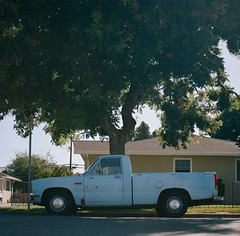 San Jose (bior) Tags: sanjose hasselblad500cm carlzeiss portra160nc kodakportra expiredfilm mediumformat pickuptruck car classiccar 120 6x6cm suburbs street road
