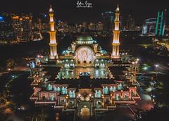 Federal Territory Mosque (Hafiz.Soyuz.Photography™) Tags: djimavicpro dji federal territory mosque kualalumpur duta aerial nightscapes architecture