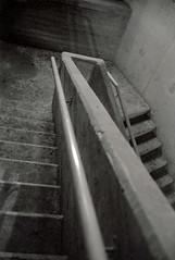 Stairs (Valentine Kleyner) Tags: telaviv israel street jupiter zorki film bw fuji neopan