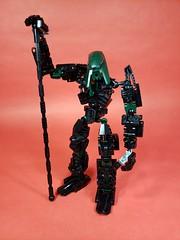 Toa Uan (TuragaNuva) Tags: lego bionicle toa earth black green staff kualsi heartlight