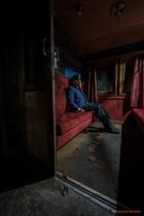 First class (MIKAEL82KARLSSON) Tags: tåg train cupé gasmask werd sony a7ll light konduktör conductor passenger abandoned decay mikael82karlsson zone biohazard