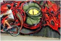 The Eye 可憐身是眼中人 - Vancouver Mural Festival XP8135e (Harris Hui (in search of light)) Tags: harrishui fujixpro2 digitalmirrorlesscamera fuji fujifilm vancouver richmond bc canada vancouverdslrshooter mirrorless fujixambassador xpro2 fujixcamera fujixseries fujix fujixf55200mm fujizoomlens mural vancouvermuralfestival eye theeye creature beast eastvancouver color red art streetart 可憐身是眼中人 王國维 teeth