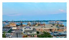 Harborside (Timothy Valentine) Tags: 2018 0818 harbor boats ourhotel ocean large sky 169 gallivanting newbedford massachusetts unitedstates us