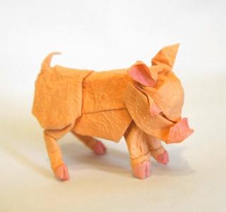 【Origami 】Pig