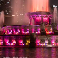 Buckingham Fountain Detail (20180811-DSC07785) (Michael.Lee.Pics.NYC) Tags: chicago buckinghamfountain grantpark night architecture longexposure spray water reflection sony a7rm2 fe24105mmf4g