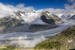 Aletsch Glacier (Marcel Cavelti) Tags: mk34854bearbaff aletschgletscher gletscher glacier ice snow mountain swiss alps alpin clouds sky switzerland valais worldheritage climatechange