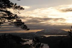 View towards Siggjo (magneroed) Tags: clouds sky skyer himmel siggjo norway fitjar mountain forest skog fjell landscape