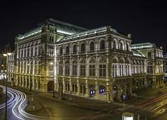 Vienna - opera house (jeffery edwards) Tags: canon5dsr vienna opera house night image long exposure architecture barred lines traffic austria albertina building