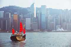 Duk ling ride Hong kong harbour with tourist junk, Hong kong China, Vintage colour tone (Patrick Foto ;)) Tags: architecture asia background blue boat building center china chinese city cityscape color colour cruise downtown famous film flag harbor harbour hong hongkong island junk kong landmark landscape modern ocean port red sail sailboat sea ship sightseeing skyline skyscraper tone tour tourism tourist traditional transport transportation travel vessel victoria vintage water wooden kowloon hk