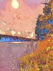 August Seventh (flynryon) Tags: digital mobile medium landscapes portrait artstudio glaze prisma flynryon mikeryon screen size iphone convection cloud iamda fingerpainted