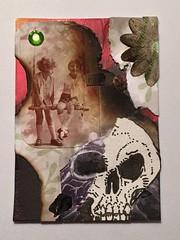 Dark ATC (Tim Ereneta) Tags: swapbot collage burnt atc artisttradingcard skull