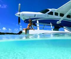 Sea & be seen #Bahamas Big Majors Cay (Daniel Piraino) Tags: cessna c208 airplane water sea shotoniphone iphoeography iphoneography seaplane aircraft blue woman sky iphonephotography iphone7plus underwater exumacays exumas bahamas c208ex