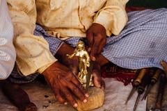 Making Hindu Idol, Vrindavan India (AdamCohn) Tags: adamcohn bankebiharimandir hindu india shribankeybiharimandir vrindavan holi pilgrim pilgrimage होली