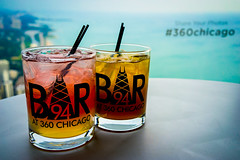 Cocktails Atop Chicago (Photographer X™) Tags: bar94 360chicago john hancock center building skyscraper views observation deck rodzilla photographerx cocktails mixed drinks colorful sony a7ii samyang 35mm f28 alocohol booze