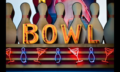 Goes Together Like a Horse and Carriage (Whitney Lake) Tags: martini liquor bowling stlouis sign neon vintage retro