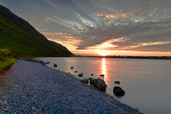 Ennerdale Water, Cumbria, England (vincocamm) Tags: ennerdale lake cumbria westcumbria lakedistrict england sunset rocks beach pebbles shore green blue orange nikon d5500