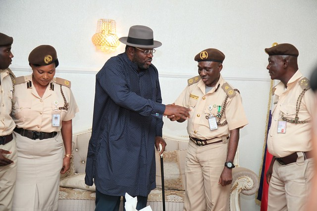 HSDickson- Condolence Visit to His Excellency by Nigeria Immigration Service Yenegoa. 29th August 2018