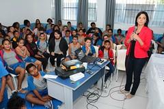 Lorena Albertine abriu evento do Programa de redução da obesidade infantil na escola João de Magalhães (2) (itaborairj) Tags: programa redução obesidade infantil combate escola itaboraí joão magalhães 04092018
