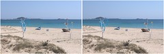 Plaka Beach area - Naxos - stereo cross-view (Barrie_r) Tags: stereo 3d crossview crosseye naxos greece