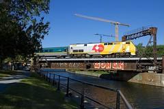 VIA 912 (Michael Berry Railfan) Tags: via912 via33 viarail via40 train passengertrain ge generalelectric genesisseries p42dc montreal peelbasin lachinecanal sthyacinthesub