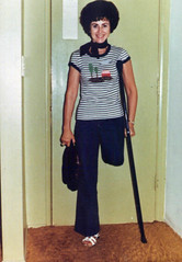 1179-06 (jackcast2015) Tags: amputee crippledwoman disabledwoman monopede crutches disabled oneleg amputeewoman woman