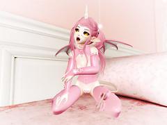 Can I bite you? O////O (Mei-Mei Chan) Tags: m4 succubus anime tail cat neko cute elf kawaii demon