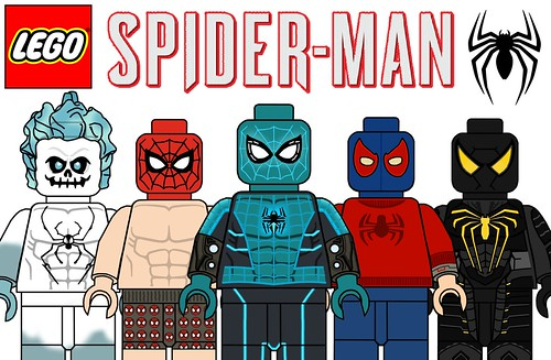 Custom Lego Spider Man PS4 Suits !!! - a photo on Flickriver