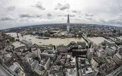 The Shard - UK's Tallest Building (Biscuits_yum) Tags: theshard skygardens plantationhouse walkietalkie london fromabove samyang8mm skyline view riverthames towerbridge thetoweroflondon highup cityscape britainstallestbuilding