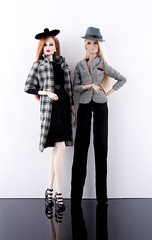 Private Eyes Luchia and Dasha (doll_enthusiast) Tags: fashion royalty fr fr2 integrity toys it dasha daytime impact luchia z fabulous fields dolls doll photography collecting