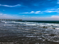 Beautiful Day on Wrightsville Beach (Shawn Blanchard) Tags: wrightsville beach north carolina nc water ocean blue clouds waves tide sky pier weather sand coast