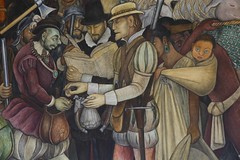The Conquest or Arrival of Hernán Cortés in Veracruz, Detail (maios) Tags: theconquestorarrivalofhernáncortésinveracruz detail conquest arrival hernán cortés veracruz diegorivera 1951 nationalpalace mexicocity malinche doñamarina hernáncortés diego rivera blueeyedchild blueeyed child mother maios mexico aztec maya woman mural painting