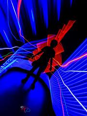 Shadower (Photosplus _ XP) Tags: portrait personnage ombre shadow shadower night photography photographie lflp lpwa olympus lightpainting light lumière luz nuit noche red rojo rouge rot blue bleu blau azul color colors couleur couleurs chaud froid hot cold caliente frio infinitexposure longexposure long exposure longexpo expo nantes maxime photos plus max pateau photosplus xp