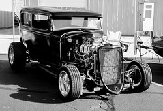 higher standards... (Stu Bo) Tags: ford hangingoutwiththefamily hotrod horsepower beautiful blackandwhite bw bigblock blower canon certifiedcarcrazy coolcar canonwarrior wildrides sbimageworks shadows showcar sunlight light chromeisking