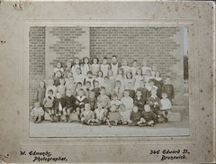 1st class at Brighton School, Victoria - very early 1900s (Aussie~mobs) Tags: wedmends school group pupils students scholars brighton class vintage victoria brunswick aussiemobs
