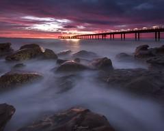 Early morning light (Gary Eastwood) Tags: jetty pier lorne longexposure earlymorning earlylight nikond750 nikon cloudsstormssunsetssunrises otways greatoceanroad rocks