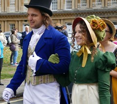 Parade, Jane Austen Festival (jacquemart) Tags: parade janeaustenfestival regencyfashion empire regency reenactment livinghistory georgian bath somerset
