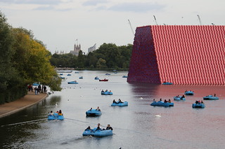The London Mastaba, Christo's first major outdoor work in Britain