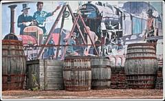 barrels-and-mural (zweiblumen) Tags: scienceandindustrymuseum museumofscienceandindustry manchester greatermanchester england uk hdr canoneos50d polariser zweiblumen