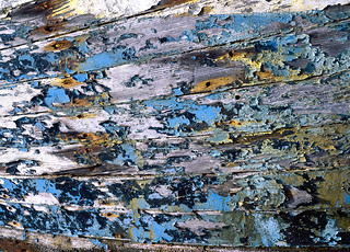 Boat Detail with Flaking Paint
