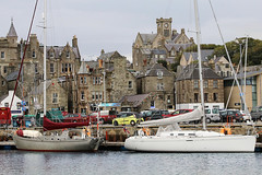 Shetland Islands, Lerwick (tweedy35) Tags: europe uk scotland shetlandislands lerwick capital town harbour buildings boats waterfront water canon slr townhall clocktower