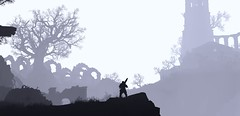 Untitled #12 (L1netty) Tags: darksouls3 darksouls ds fromsoftware bandainamcoentertainment bandainamco pc game games gaming pcgaming videogame videogames reshade screenshot 4k character ashenone man male people knight warrior armor blackandwhite monochrome bw silhouette building outdoor fantasy