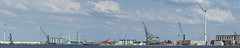 Churchilldok (Mark A.H.) Tags: churchilldok antwerp antwerpen belgium belgie 17august2018 crane container windmill clouds ship vessel schip port harbor harbour silo industry water marine pano panorama