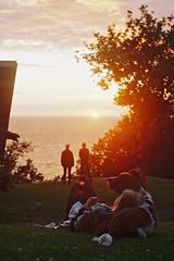Sunset at Hammeren (m-og-m) Tags: fuji superia 200 bornholm denmark kodakretina1bschneiderkreuznachretinazenarf2 850mm springer spaniel
